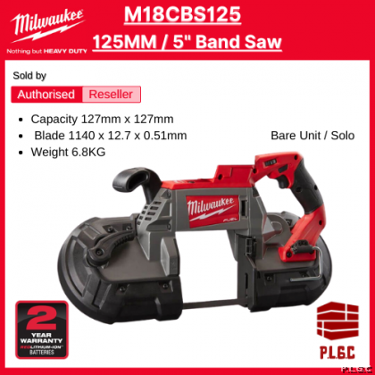 Milwaukee M18 M18CBS125 18V Cordless Bandsaw With 235mm Blade ( Bare Tool )